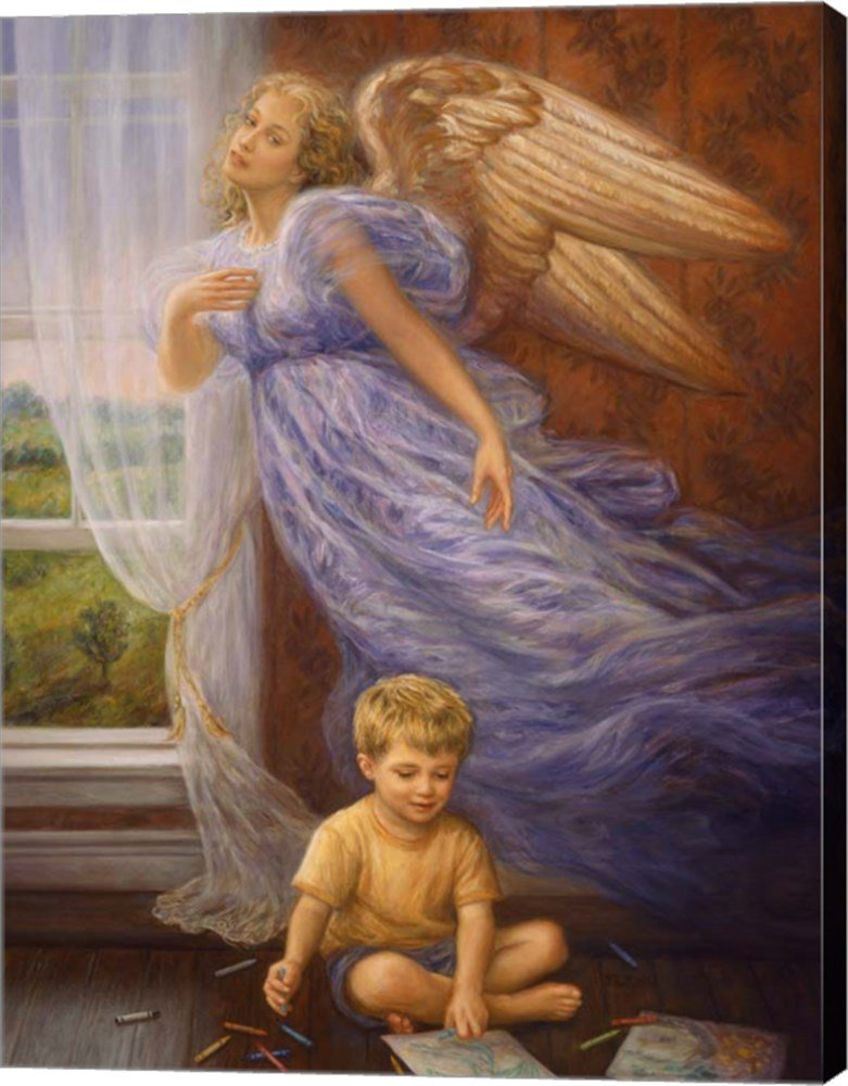 Angel 10 by Edgar Jerins Canvas Art Wall Picture, Gallery Wrapped with Image Around Edge, 15 x 20 inches by Great Art Now