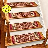 Burgundy Rug Carpet Stair Treads Set Of 4 CST260R
