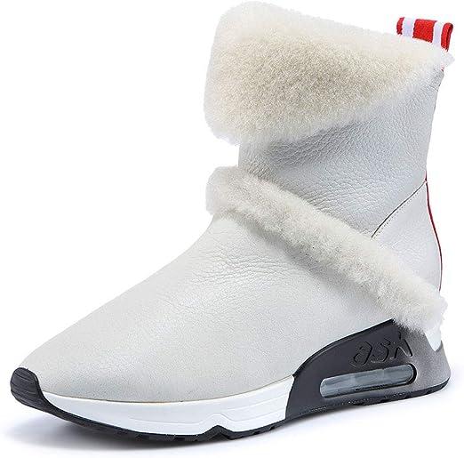 Botines Botas de Nieve Impermeables Calzados Informales Parte Inferior Plana más Terciopelo Zapatos de algodón Botas ...