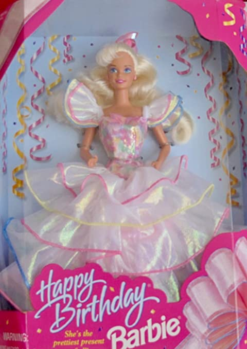 Amazon Com Barbie Happy Birthday Doll She S The Prettiest Present