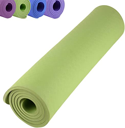WIN.MAX Yoga Mat Non Slip Large Padded Eco Friendly SGS Approved 2 5-Inch 10mm Gym Fitness Yoga Exercise Mats in Purple Blue Pink Green