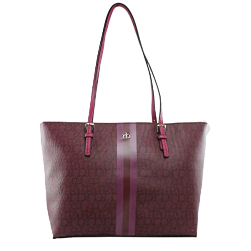 Rocco Barocco BORSA DONNA ROCCOBAROCCO RB SHOPPING BAG MONOGRAM ALL AROUND  PRUGNA 217  Amazon.it  Scarpe e borse 71a152519b1