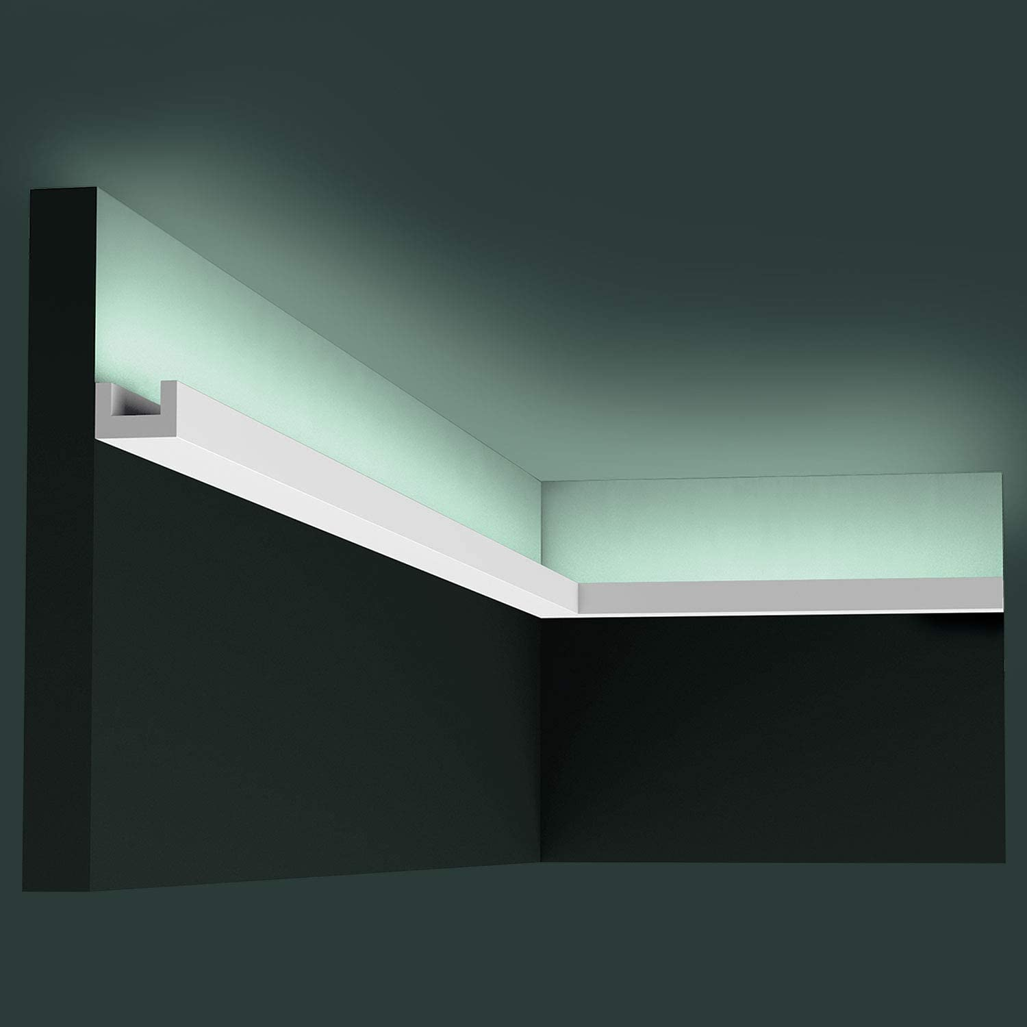 Orac Decor CX190 | High Impact Polystyrene Crown Moulding | Primed White | 1-1/8in Face x 78in Long