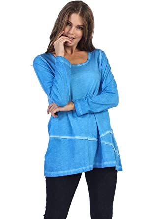 40a63483867 Fashion Focus Supima Cotton Tunic Top at Amazon Women's Clothing store: