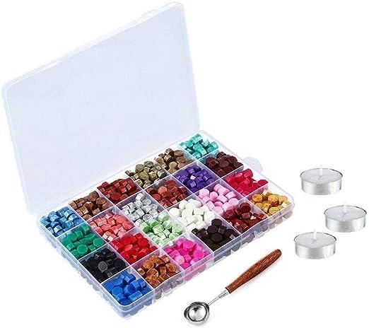 Wilk 600pcs Octagon lacre Kit de Cuentas presentado en Caja de plástico con 3 Piezas de