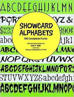 Showcard Alphabets 100 Complete Fonts Dover Pictorial Archive Series Dan X Solo 9780486289762 Amazon Books