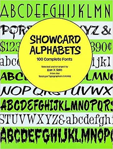 showcard alphabets 100 complete fonts dover pictorial archive series