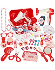 Vanplay Make-up Set voor Kinderen Make-up Case met Meisje Cosmetica Speelgoed Rollenspel Verjaardagscadeau Voor Kinderen 3 4 5 jaar (28 stuks)