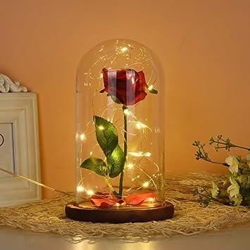 Amazon.com: ASOBIMONO - Flor de simulación de rosa de la ...