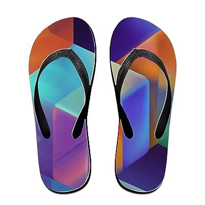 Loopkt Modern Abstract Unisex Classical Comfortable Flip Flops Beach Slippers