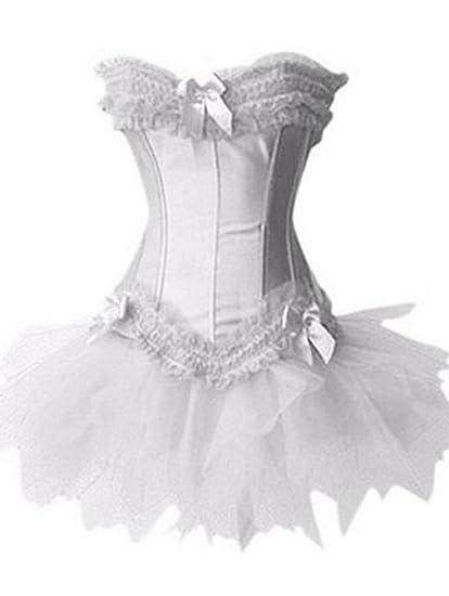 Moulin Rouge Princesse Dentelle Lingerie Bustier Corset avec la Jupe S,6XL  Amazon.fr Vêtements et accessoires