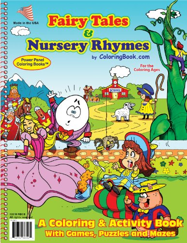 (Fairy Tales & Nursery Rhymes Coloring Book (8.5x11))