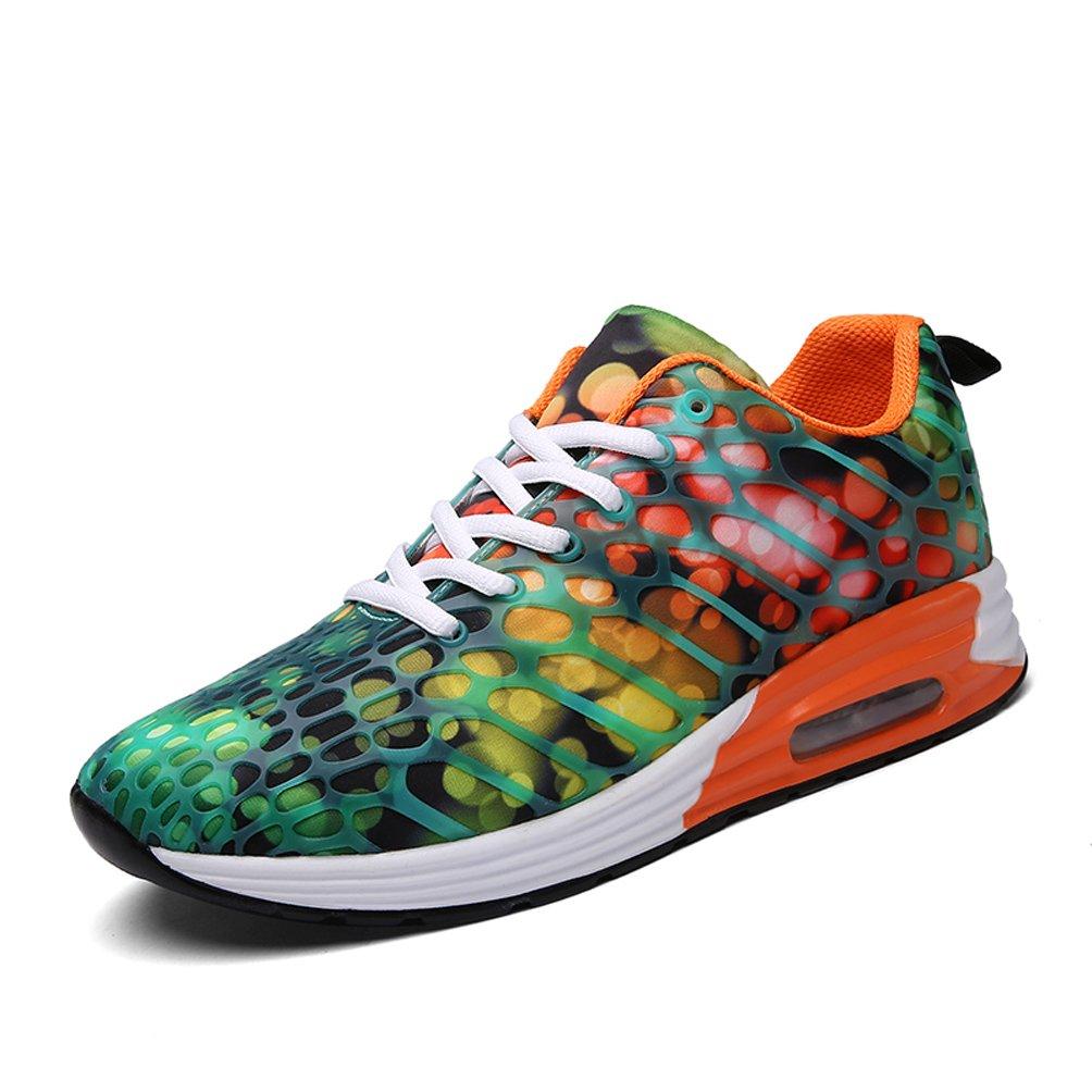 Dannto Herren Damen Sneakers Bequeme Freizeit Schnuuml;rer Profilsohle Laufschuhe Sportschuhe Turnschuhe  43 EU|orange-B