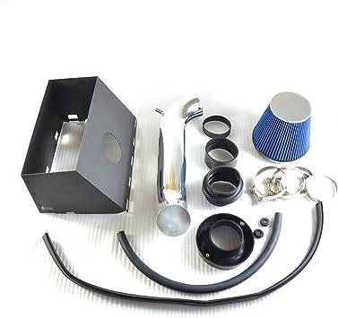 2pcs Design 2000 2001 2002 Dodge Durango Dakota 4.7L V8 Engine Air Intake Filter Kit System Black Accessories with Green Filter