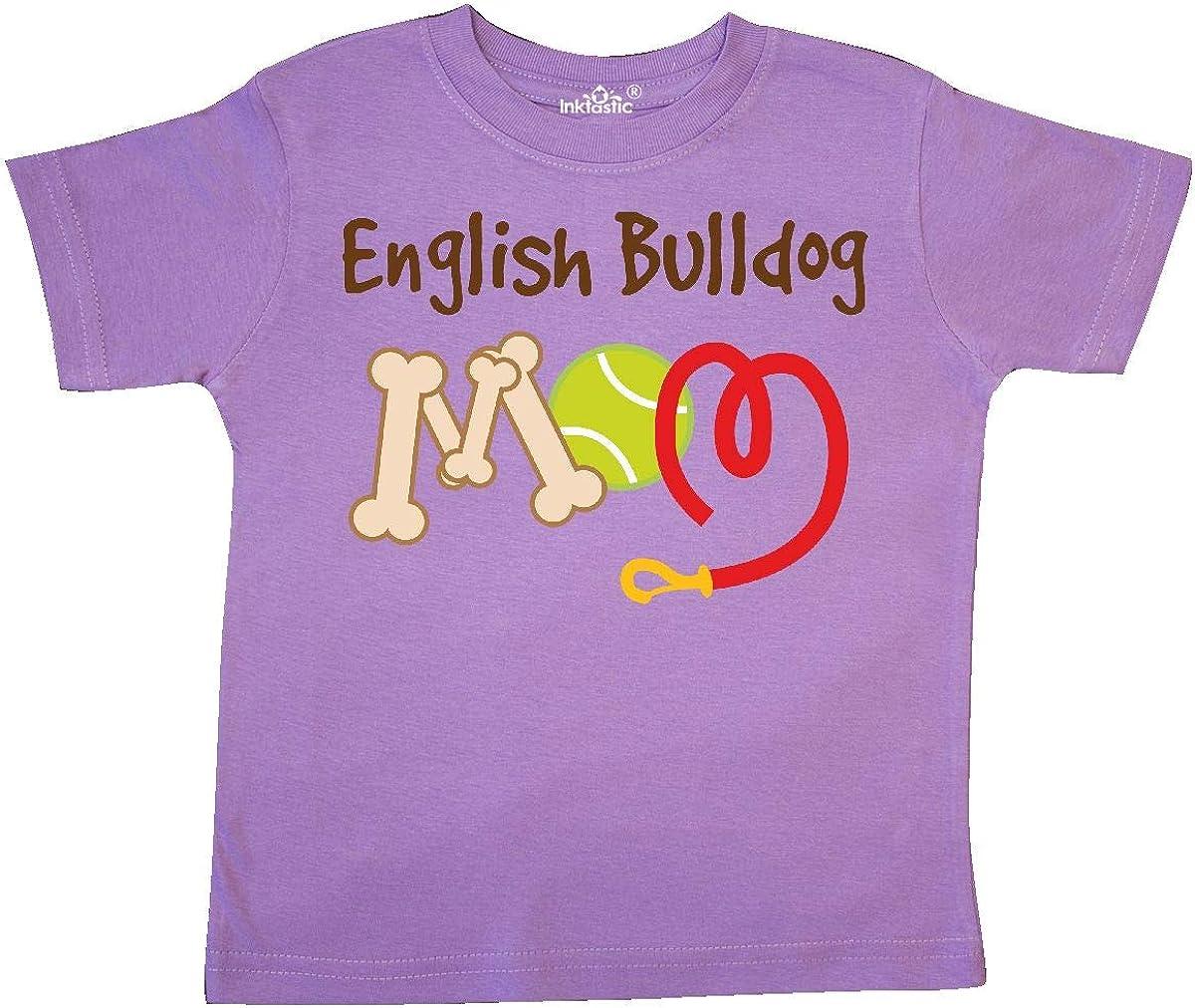 inktastic English Bulldog Dog Mom Toddler T-Shirt