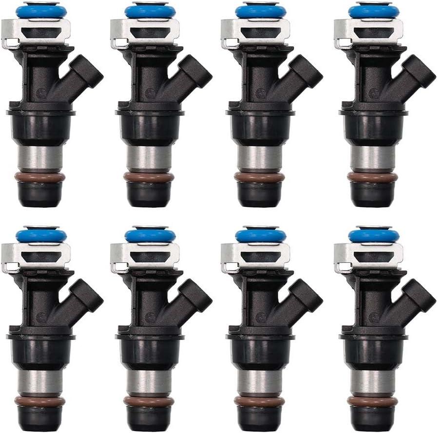 8 Fuel Injector Direct fit 01-07 GMC Cadillac Chevy 4.8L 5.3L 6.0L w//o Flex Fuel