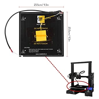 Removable Build Plate Heat Bed 235X235X3mm for Ender 3 Pro CR-20 3D Printer