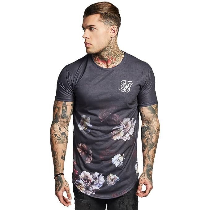 Sik Silk SikSilk - Camiseta - para hombre Gris gris Medium
