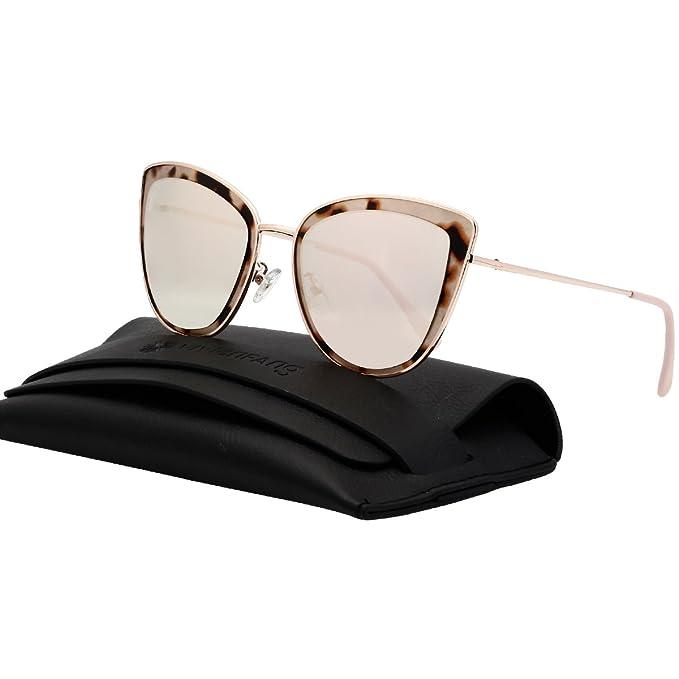 vivienfang Flash Mirror Lens Oversize De La Mujer Cateye anteojos De Sol  Polarizadas P1891 5af8329e75c4