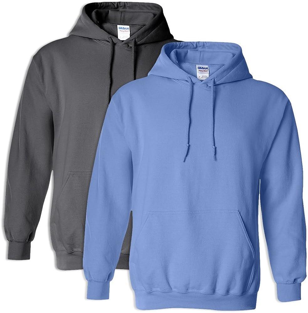 1 Carolina Blue Gildan G18500 Heavy Blend Hooded Sweatshirt 3XL 1 Charcoal