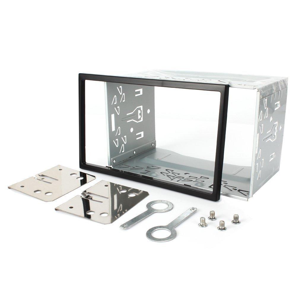 Rydohi- Kit di installazione in ferro metallo universale. Gabbia di fissaggio con telaio per doppio stereo per autoradio 2 DIN