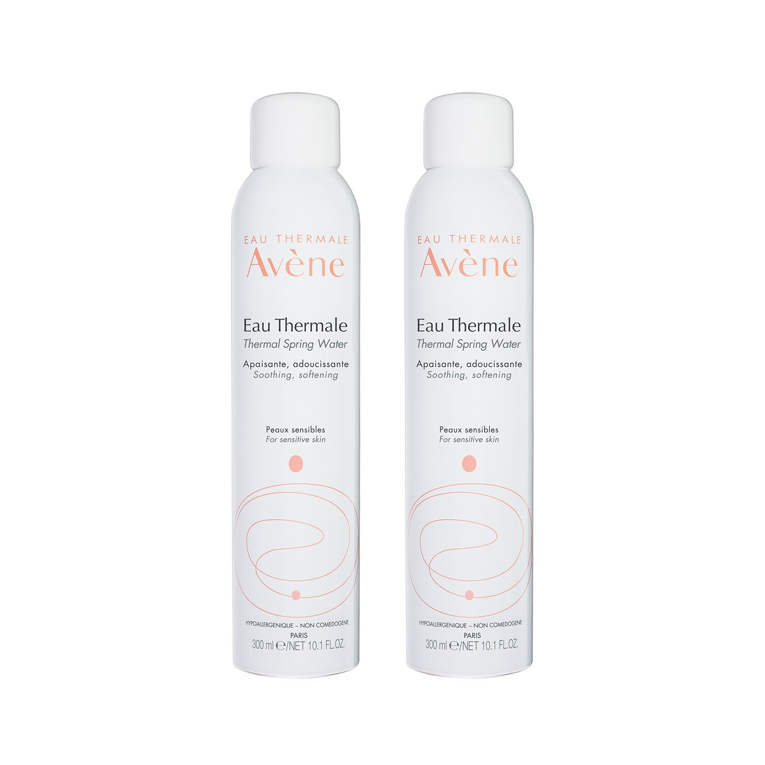 Eau Thermale Avene Thermal Spring Water, Soothing Calming Facial Mist Spray Duo, 10.1 oz., Set of 2