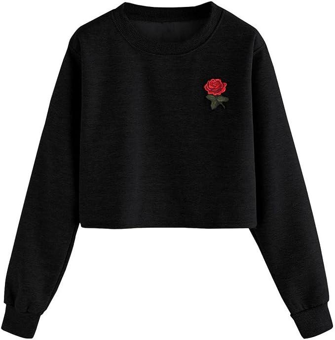 Amlaiworld Sweatshirts Winter Herbst locker Pullover Kleider Mode Sport Langarmshirt Ringel Damen Gemütlich Bluse Basic elegant Tops weich Freizeit Oberteile