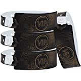 Wristall VIP Plastic Wristbands for Event - Party Wristbands Vinyl Band for Club (Black, 200)