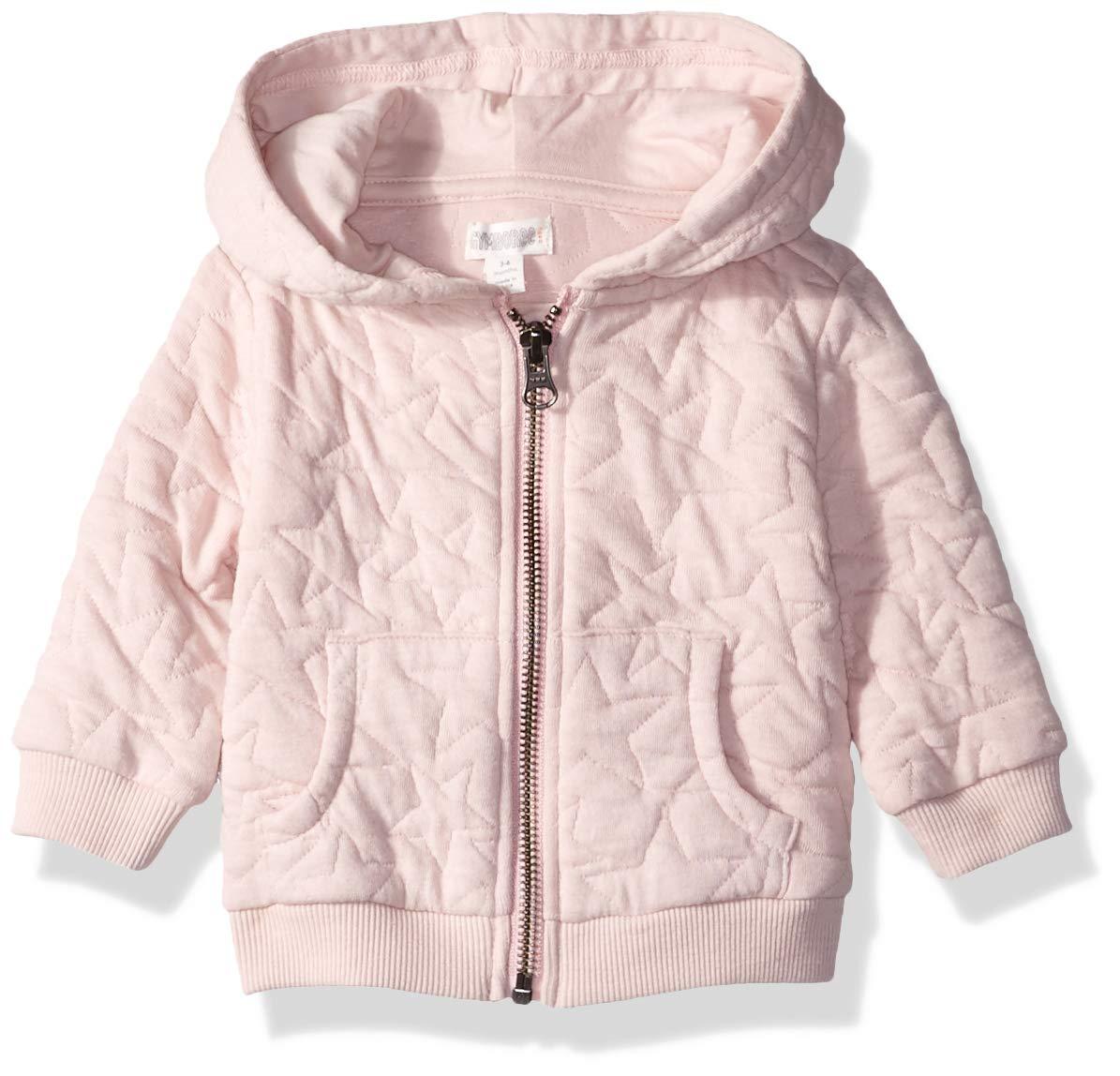 Gymboree Baby Girls Long Sleeve Zip Hoodie, Blushing Pink, 3-6 Mo by Gymboree