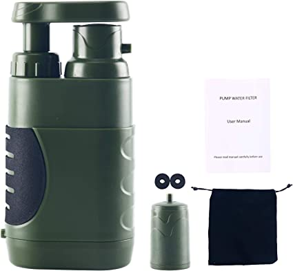 Amarine Made potabilizador de Agua Filtro de Agua Portátil,Emergencia Personal Purificador de Agua para Campamento o ...