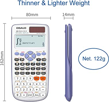 calculadora de ingenier/ía para la universidad escolar OS-991ES PLUS OSALO Calculadora cient/ífica escrita con pantalla solar ultraligera