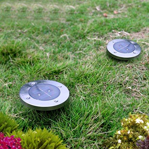 4pcs solar ground light solar power garden light led