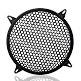 MeiBoAll Auto Speaker Parts Car Audio Sub Woofer Grille With 4 Screws 4 Mounting Brackets Black Waffle Grill Cover Guard Protector Grille 1 Pcs 12 Inch