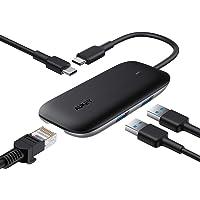 AUKEY Hub USB C Ethernet (4-in-1) con 2 Porte USB 3.0, Porta Dati USB-C e Gigabit Ethernet RJ45 Hub USB Type C Compatibile con MacBook PRO, dell XPS 15, Chromebook Pixel e Molti Altri Dispositivi