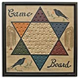 Cheap Game Board Chinese Checkers Sign Primitive Country Rustic Gameboard