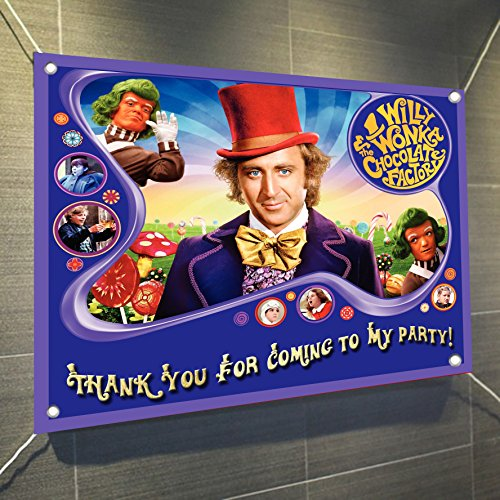 Factory Sign - Chocolate Factory Banner Large Vinyl Indoor or Outdoor Banner Sign Poster Backdrop, party favor decoration, 30