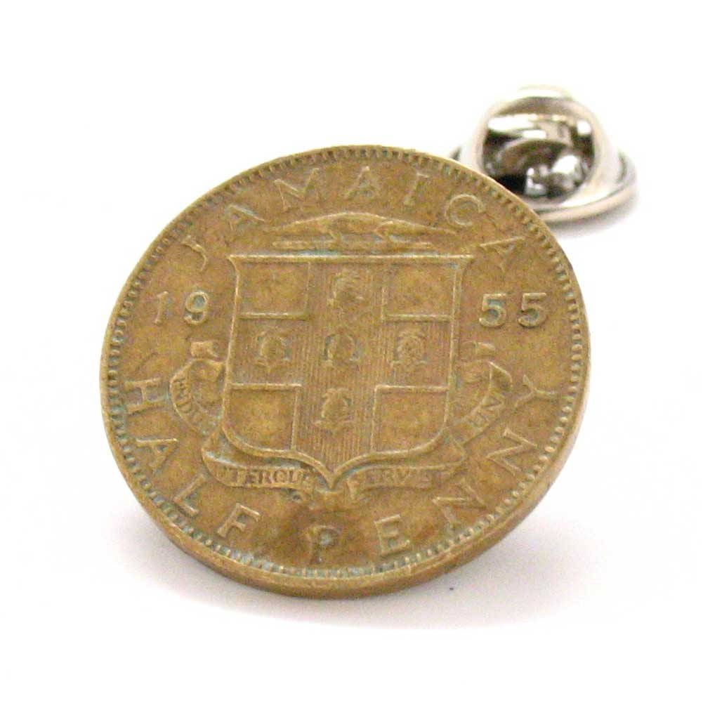 Jamaica Coin Tie Tack Lapel Pin Caribbean Kingston Reggae Port Royal Montego Bay Cruise Vacation Souvenir