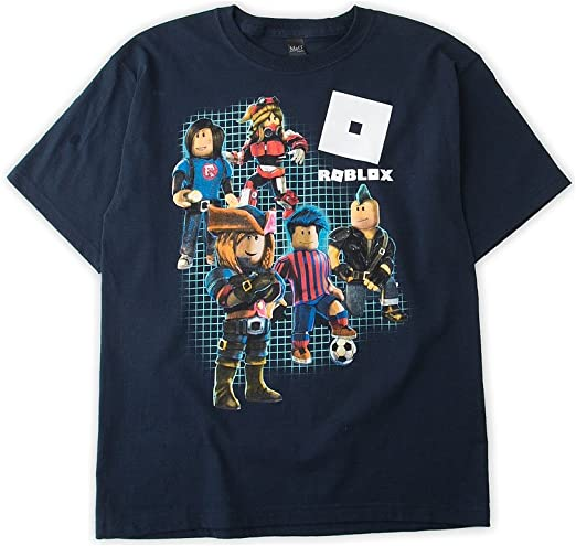 Amazon Com Roblox Boys Short Sleeve Shirt X Large 18 Navy