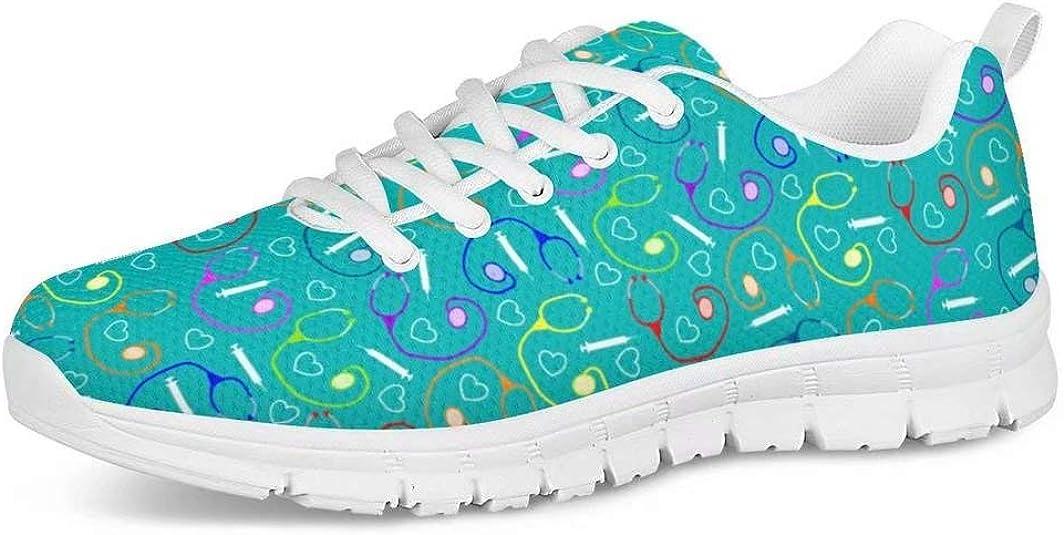 POLERO Nurse - Zapatillas para enfermera, patrón, para mujer, hombre, zapatillas deportivas, ligeras, para correr, gimnasio, zapatillas, zapatos de ocio, 36-45 EU: Amazon.es: Zapatos y complementos
