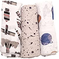 Little Unicorn Cotton Muslin Swaddle Blankets - Ground Control - 3 ct