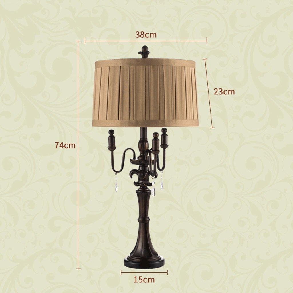 Vintage Crystal Table Lamp European Bedroom Bedside Lamp Luxury