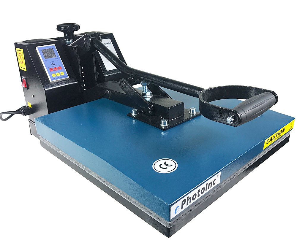 "ePhoto New 15"" x 15"" Digital T-Shirt Heat Transfer Press Sublimation Heat Press Machine 1515BLUE"