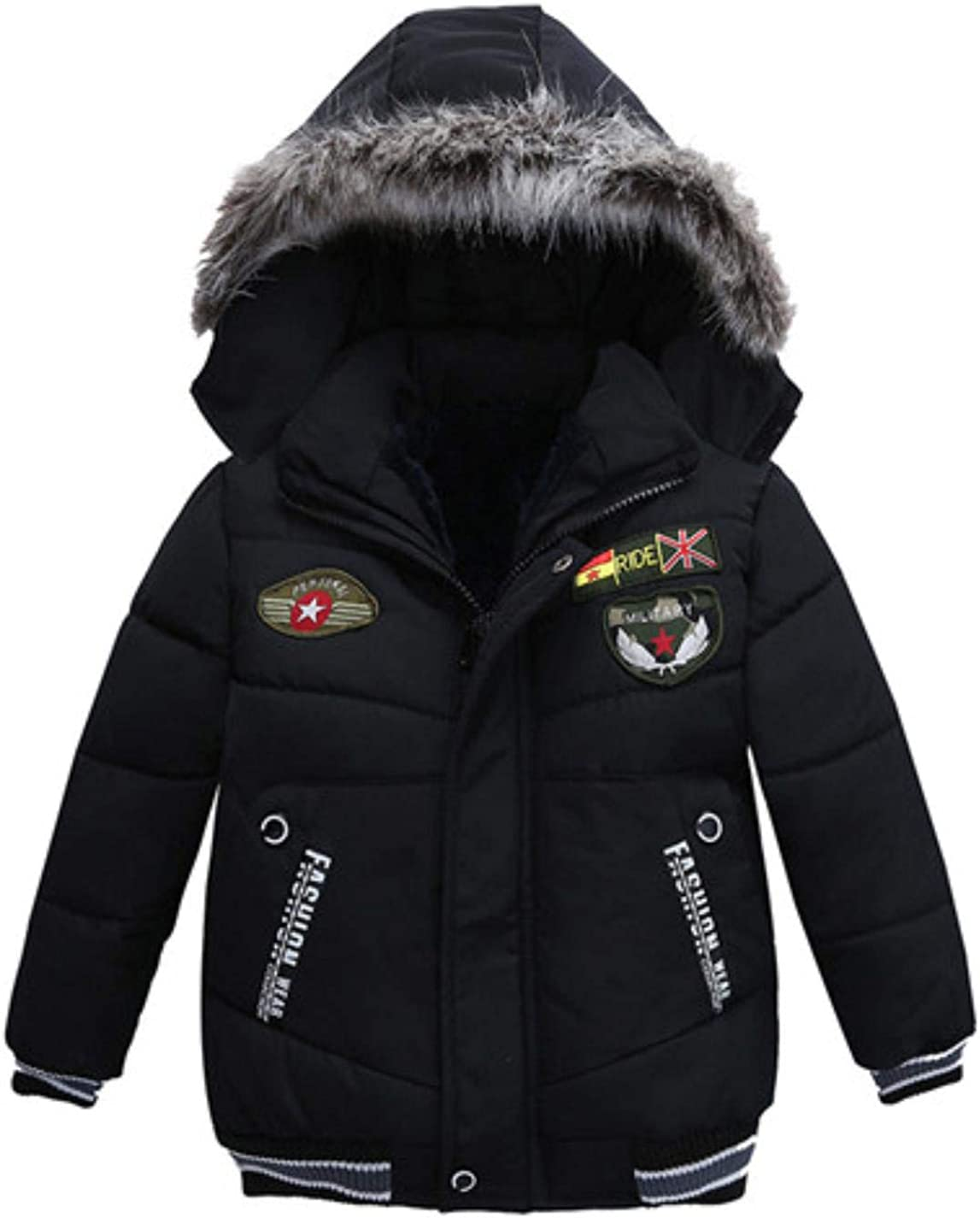 LzCxZDKN Baby Boys Girls Warm Down Jacket Hooded Children Solid Outerwear