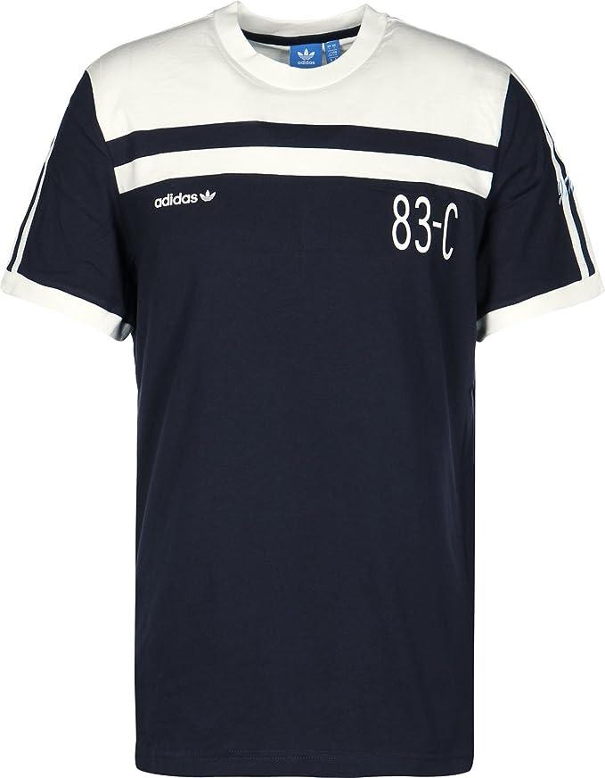 adidas Originals T Shirt 83 C pour Hommes Bleu Marine Homme