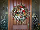 XXL Christmas Wreath, Magnolia Holiday Wreath, Mantle Wreath, Christmas Decoration, Holiday Home Decoration, Elegant Christmas Wreath