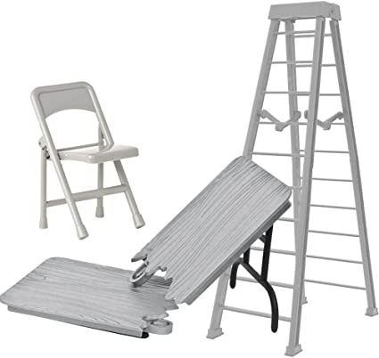 10 Inch Silver Breakable /& 7 Inch Regular Ladder For WWE Wrestling Figures