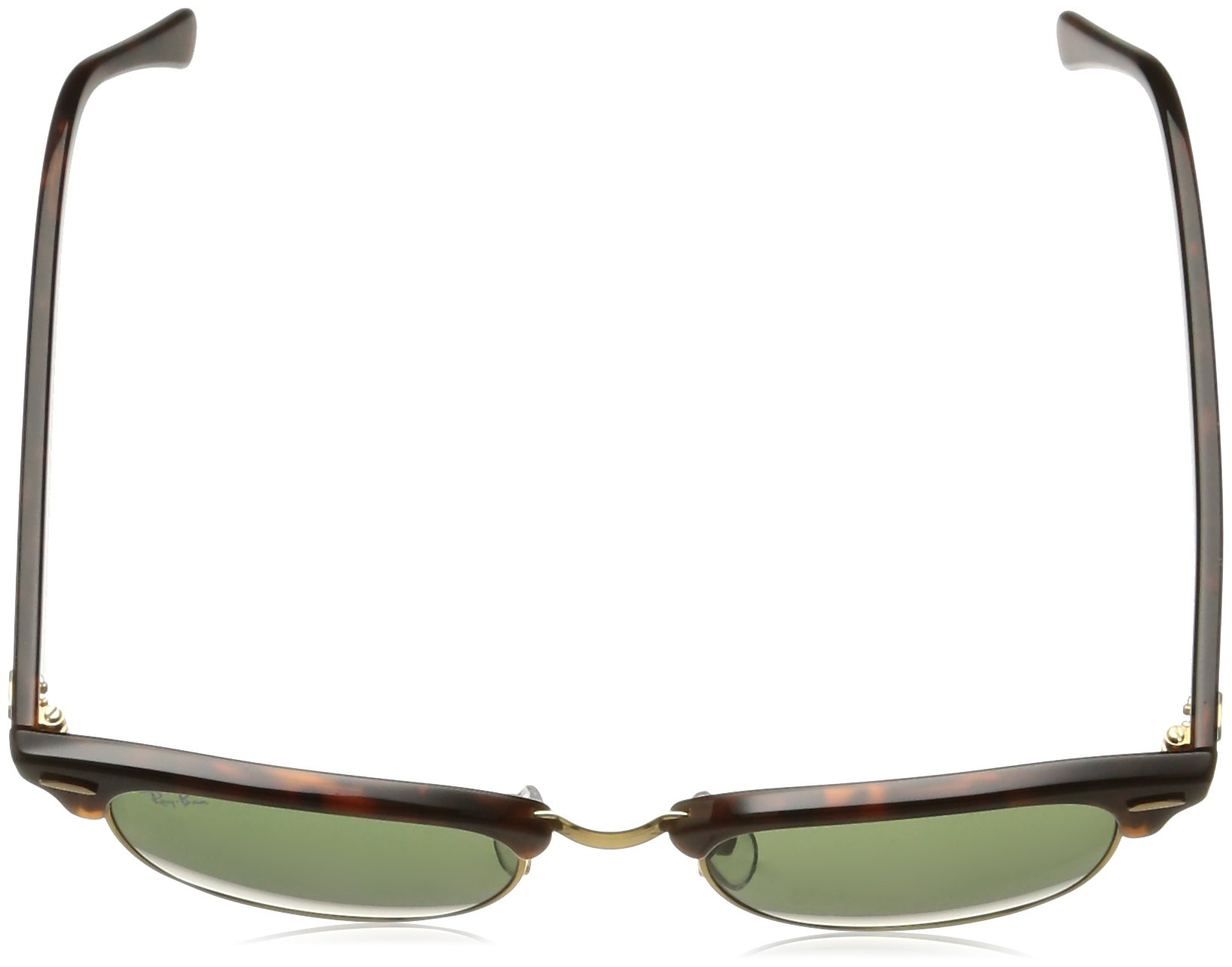 Ray-Ban CLUBMASTER - MOCK TORTOISE/ ARISTA Frame CRYSTAL GREEN Lenses 49mm Non-Polarized by Ray-Ban (Image #4)