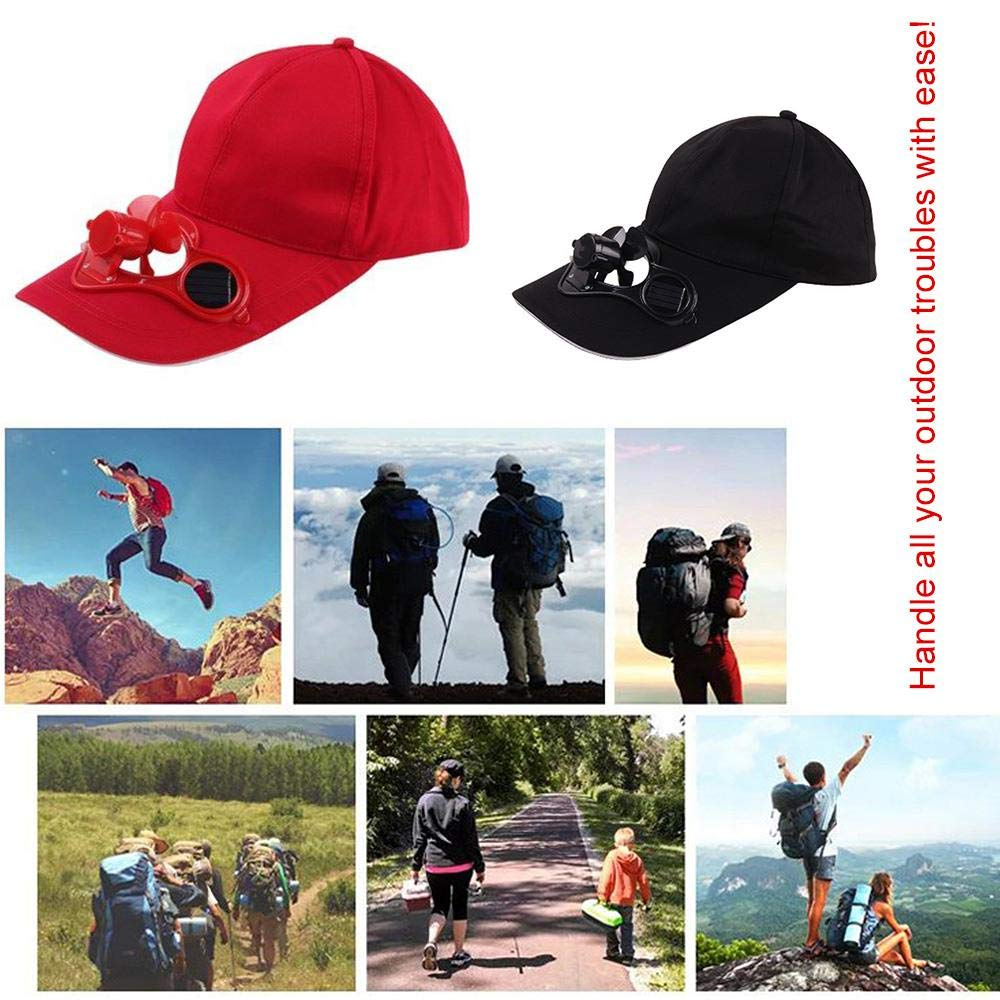 Ceepko Summer Solar Power Fan Cap Sport Outdoor Hat Cap With Solar Sun Power Cool Fan For Cycling