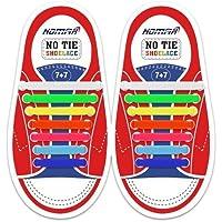 Homar No Tie Shoelaces for Kids, Waterproof Silicon, Flat Elastic Athletic Shoe Laces, Multicolor