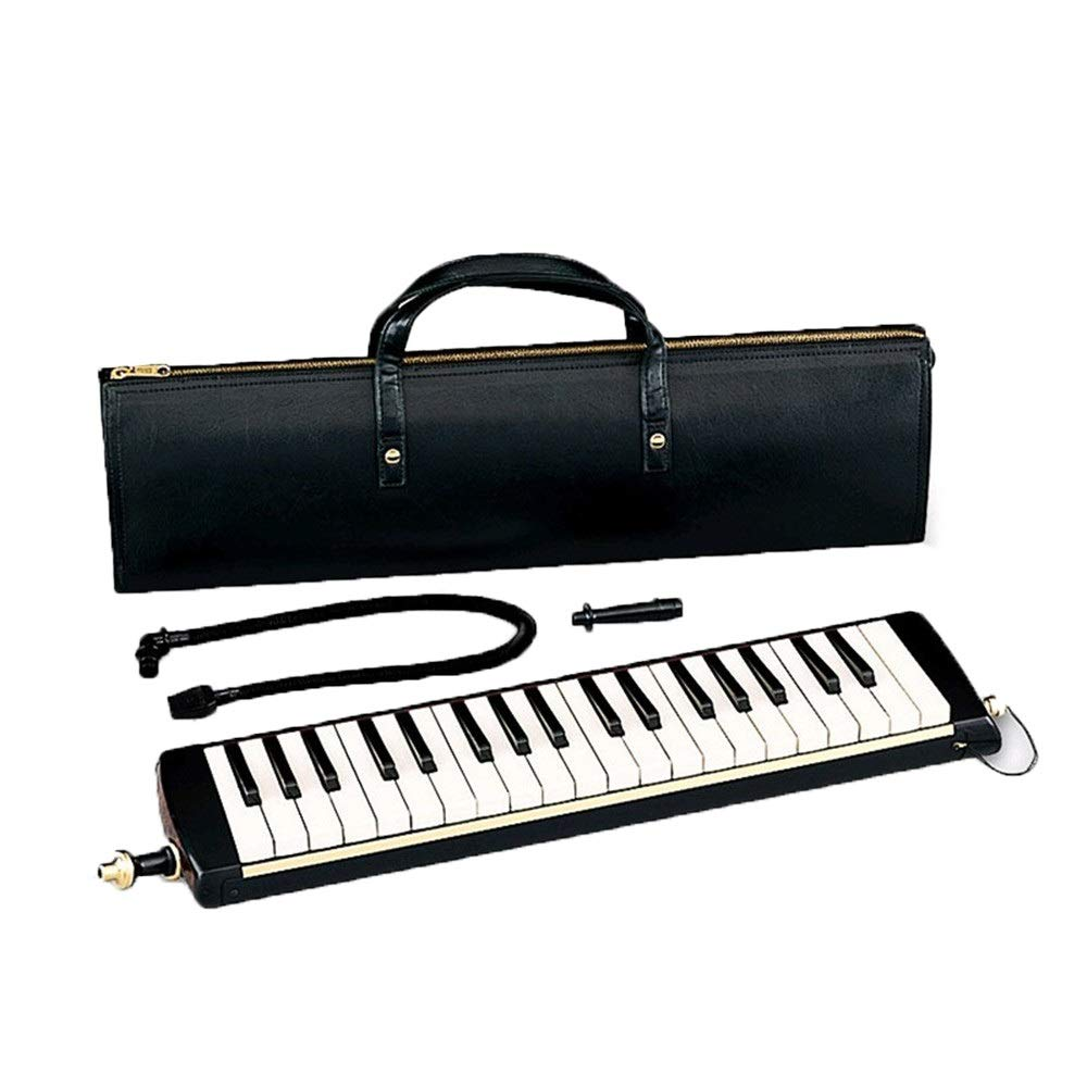 Piano-Style Melodica Portable Deluxe Professional Adults 37 Keys Pianica Melodica with PU Leather Carrying Bag Mouthpieces Tube Sets Musical Instrument Gift Toys for Music Lovers Beginners Kids Black by Ybriefbag-Musical Instruments